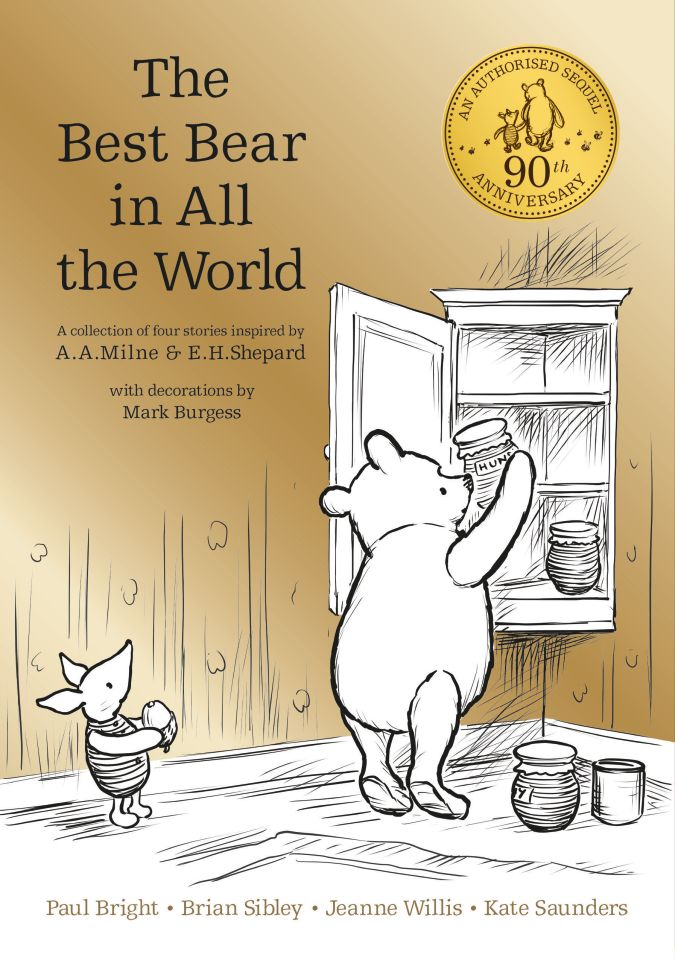 "Couverture du livre ""The Best Bear In All The World"" par Brian Sibley, Paul Bright, Kate Saunders & Jeanne Willis ; Illustrations Mark Burgess - éd. Edgmont"